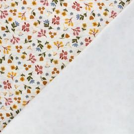 Sweatshirt fabric with minkee reverse - mottled grey Le jardin de Tina x 10cm