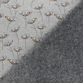 Sweatshirt fabric with minkee reverse - mottled grey Pissenlit coloré x 10cm