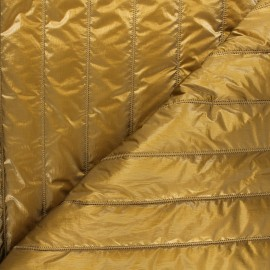 Quilted lining metallic fabric - old gold Stéfi x 10cm