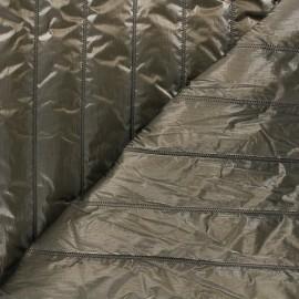 Quilted lining metallic fabric - khaki green Stéfi x 10cm