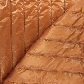 Quilted lining metallic fabric - copper Stéfi x 10cm