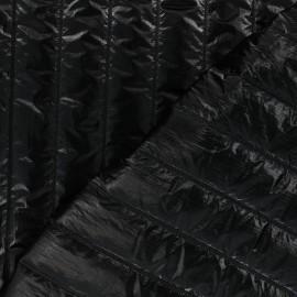 Quilted lining metallic fabric - black Stéfi x 10cm