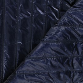 Quilted lining metallic fabric - navy blue Stéfi x 10cm