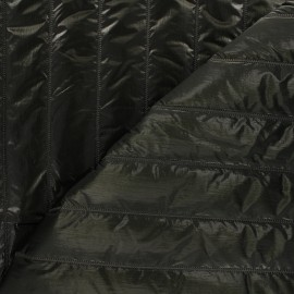 Quilted lining metallic fabric - dark green Stéfi x 10cm