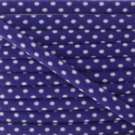 Cordon à pois violet
