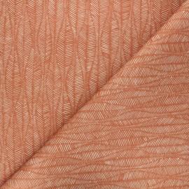 Tissu toile de coton Thevenon Leaf - caramel x 10cm