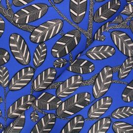 Tissu toile de coton Thevenon Elis - bleu roi x 10cm