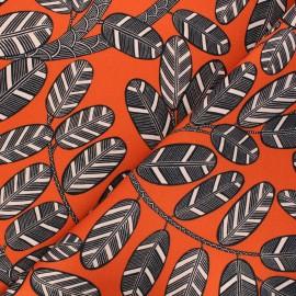 Tissu toile de coton Thevenon Elis - orange x 10cm