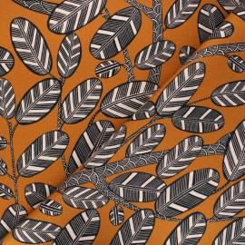 Cotton canvas fabric Thevenon - caramel Elis x 10cm