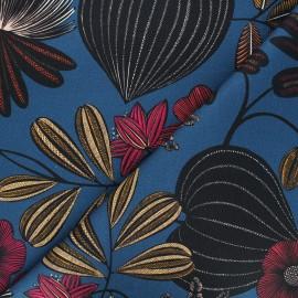 Cotton canvas fabric Thevenon - midnight blue Orphée x 10cm
