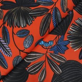 Thevenon short velvet fabric - orange Orphée x 10cm