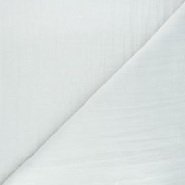 Tissu double gaze de coton uni Thevenon - brouillard x 10cm