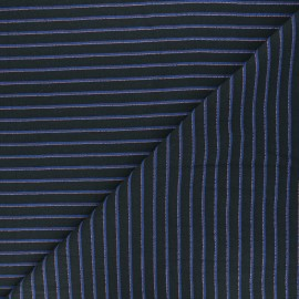 Tissu Walkie Talkie Jacquard fin Escale - Neptune x 10cm