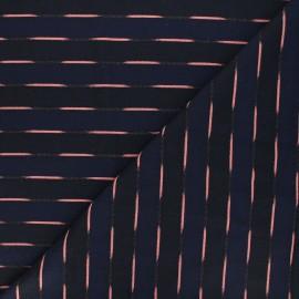 Tissu Walkie Talkie Jacquard fin Riviera - Neptune x 10cm