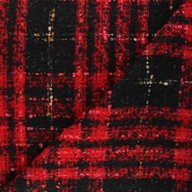 Lurex tweed fabric - red Emmy x 10cm