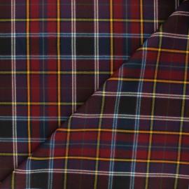 Tartan fabric - burgundy Glastonbury x 10cm