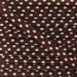 Cord with white polka dots - Brown