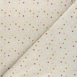 Tissu jersey velours éponge Poppy Flowers - gris x 10cm