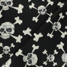 Alexander Henry cotton fabric - black Skull and bones x 10 cm