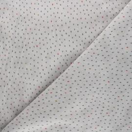 Tissu jersey velours éponge Poppy Stripes - gris x 10cm