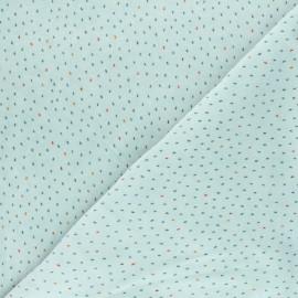 Poppy terry-cloth jersey fabric - blue Stripes x 10cm