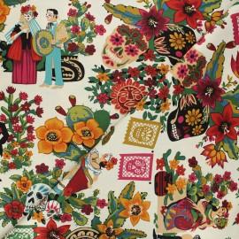 Alexander Henry cotton fabric - raw La mascarada x 10 cm
