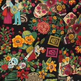 Alexander Henry cotton fabric - black La mascarada x 10 cm