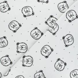 Poppy Sweatshirt cotton fabric - grey Bear x 10cm