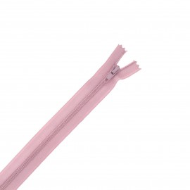 Nylon zipper - old pink