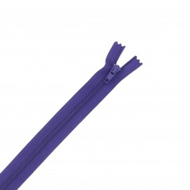 Nylon zipper - deep purple