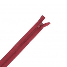 Nylon zipper - burgundy
