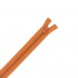 Nylon zipper - cinnamon brown