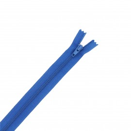 Fermeture à glissière nylon - bleu royal