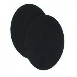 Coudières thermocollants aspect daim noir