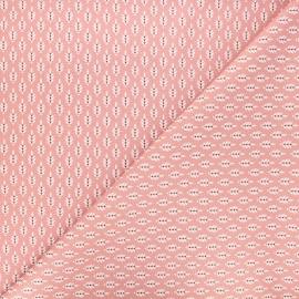 Poppy poplin cotton fabric - pink Fantasy flower x 10cm