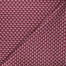 Poppy poplin cotton fabric - purple Fantasy flower A x 10cm