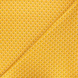 Poppy poplin cotton fabric - mustard yellow Fantasy flower A x 10cm