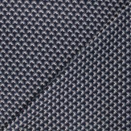 Poppy poplin cotton fabric - night blue Fantasy flower A x 10cm
