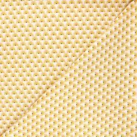 Poppy poplin cotton fabric - white Fantasy flower A x 10cm