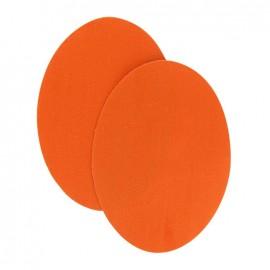 Coudières thermocollantes aspect daim orange