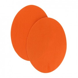 Coudières thermocollants aspect daim orange