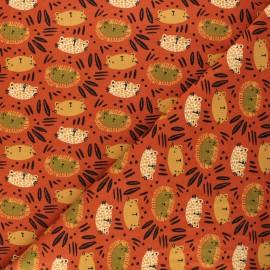 Poppy fabrics jersey fabric - Orange wild cats x 10cm
