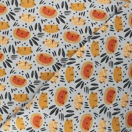 Tissu jersey Poppy Wild cats - gris x 10cm