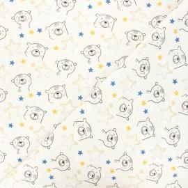 Poppy fabrics Flannel Fabric - raw Sweat bear x 10cm