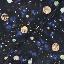 Tissu popeline de coton Poppy New Galaxy - bleu marine x 10cm