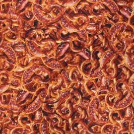 Tissu popeline de coton Poppy Pretzels - marron x 10cm