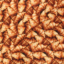 Tissu popeline de coton Poppy Croissant - marron x 10cm