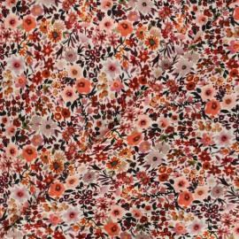 Tissu double gaze de coton Poppy Flowers - écru x 10cm