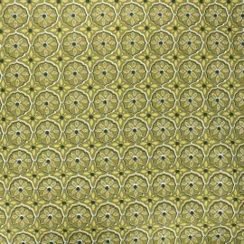 Tissu coton enduit Suez - vert kaki x 10cm