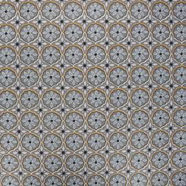 Coated cotton fabric - grey Suez x 10cm
